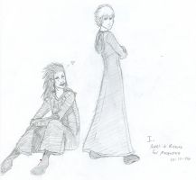Sketch I: Axel and Roxas by faerie-chan