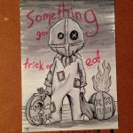 Sam from Trick R Treat sketch card by johnnyism