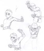 rock lee sketches by Stainless-x