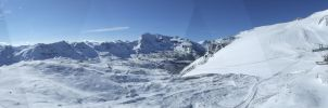Panorama Tignes,France Alps 02 by Siccie