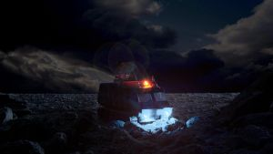 Mobile Two trundles across the desert by Robby-Robert