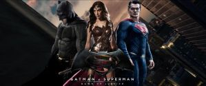 Batman v Superman: Dawn of Justice Trinity Banner by PaulRom