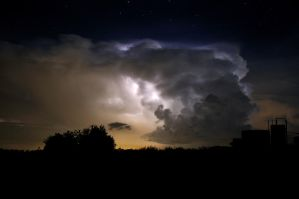 Stormy Summer's Night by Bvilleweatherman