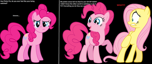 Pinkie Pie knows about bronies by Nukarulesthehouse1