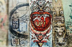 Act Up - Berlin Wall wallpaper by Mjag