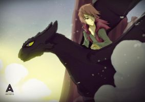 Toothless x Hiccup by faruuk-sama