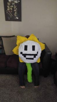 Giant flowey plush good face by mycandylovefreak