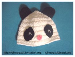 Panda Buddy Beanie by WireMySoul