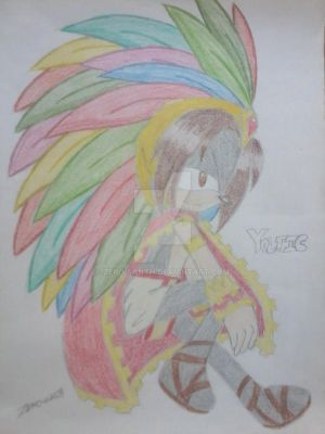 New Chara: Yoltic the Aztec hedgehog by Zero-sanTH