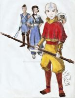 The Last Airbender trio by talita-rj