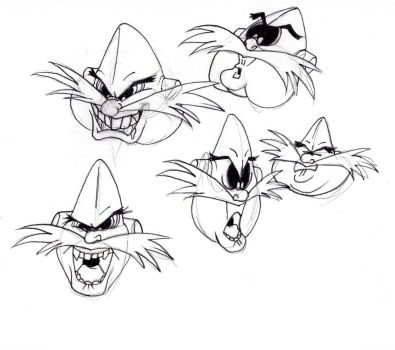 Dr. Robotnik Expressions by SmithyGCN