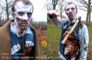eviscerated zombie by Monstermann
