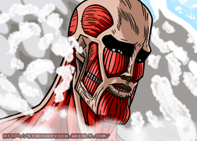 Handsome Colossal Titan by KazemaruHeishi