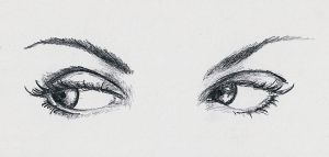 Small Sketch: Eyes by JacquelineChroma
