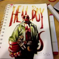 Hellboy markers by bbrunoliveira