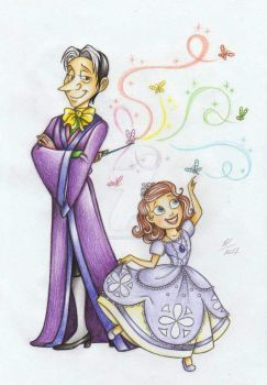 Sofia The First and Cedric The Great:) by Anastasia1995art