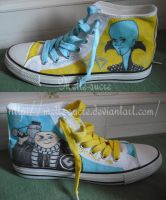 Shoes Megamind and Despicable me-details by melle-sucre