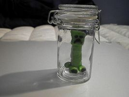 Creeper in a Jar by Dragoniangirl