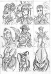 Sketch Cards 2 by imagesbyalex