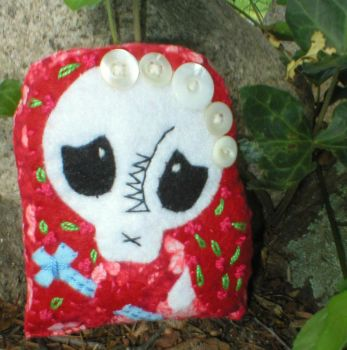 Tiny Day of the Dead Doll by verukadolls
