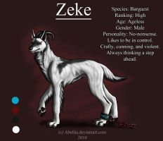 Zeke Ref Sheet by Abellia