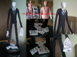 My Slenderman figure by SarahRasmical