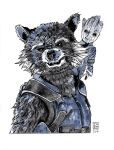Day 20 - Rocket and Groot by ZachBobBob
