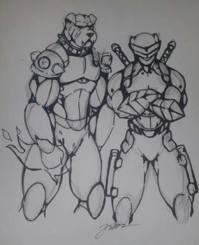 Bulldog and Shadowkat concept art by MW-Industries