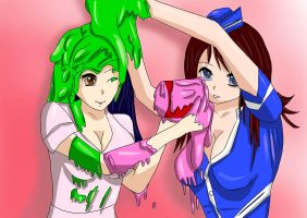Slime fight by mmasia