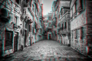 Street in Venice 3-D conversion by MVRamsey