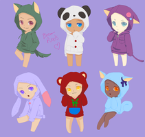 Chibi Hoodies +request+ by Boom-pixels