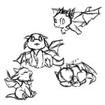 baby dragon sketch dump by HyperactiveInnocence