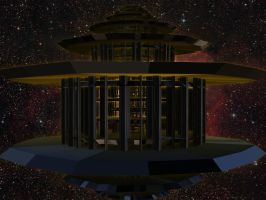 Lysergica Temples: A Dark Temple for the Dark Lord by PhotoComix2