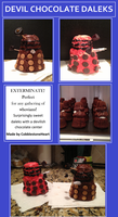 Devil Chocolate Daleks by CobblestoneHeart