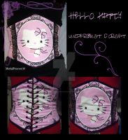 Underbust Hello Kitty Corset by MorbidPrincess122