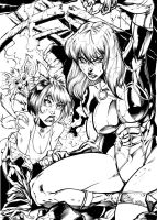 Fairchild and Freefall by Inker-guy