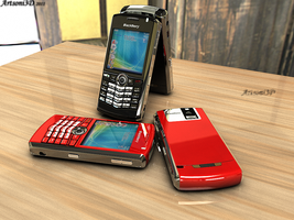 Blackberry-Redberry 8100 Pearl by Artsoni3D