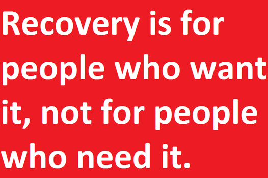 Recovery is for people who want it by DanielBenner214
