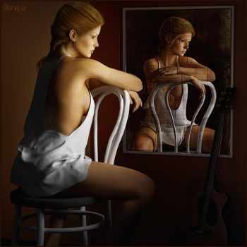 A Mirror Image is not Reality by SenZzo-art