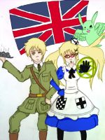 The United Kingdom, Scones, and Flying Mint Bunny by Slamatlock