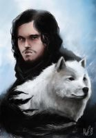 The crow and the direwolf by Minelo