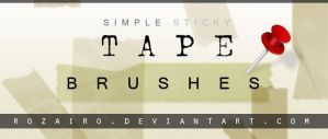tape brushes by Rozairo