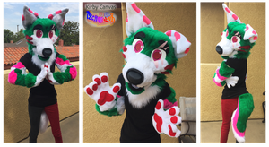 Kirby Canvas Partial Fursuit by TECHNlCOLOUR