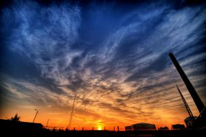 Colorful sunset by Honosuke