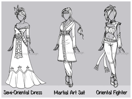 Outfit Design : Chinese New Year ( 0/3 CLOSED) by JessyB-Design