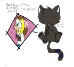 bad kitty XD by queenmafdet