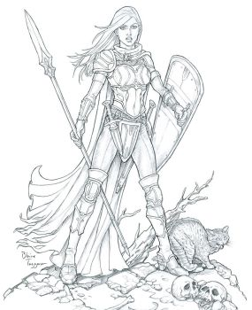 Female Paladin by staino