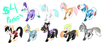 $4 pony adopts! by Lodidah