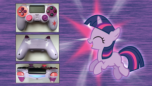 Custom PS4 Controller Twilight Sparkle MLP: FiM by CARDI-ology