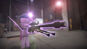 Twilight Sparkle: The Sniper. by TheProdigy100